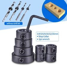 3-12mm Woodworking Drill Bit Depth Stop Collars Ring Positioner Drill Locator
