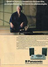 Publicité 1983  PANASONIC  la chaine stéréo compacte SG-2100  image et son