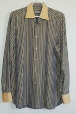 Mens Stefano Ricci Dress casual Shirt Striped LS Size 17/43 Italy