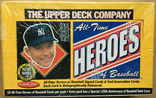 1994 Upper Deck All Time Heroes Factory Sealed Box 48/10 Mantle Auto?