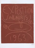 Pablo Picasso, Exposition Vallauris 1963 Vintage Poster offset Lithograph 1964