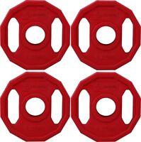 "BodyRip Olympic Polygonal Weight Plate Discs 4 x 1.25KG 2"" Hole Colour Coded Gym"