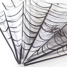 DECORAZIONI HALLOWEEN RAGNATELA confezione da 4 bianco elasticizzato RAGNATELA