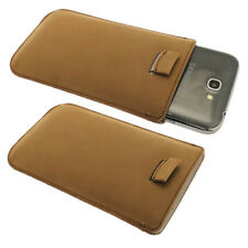 Brown Leather Pouch Para Samsung Galaxy Note 2 Ii N7100 Android Funda Holder