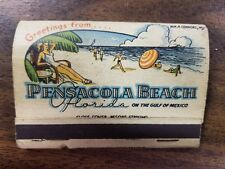 Vintage Match book Pensacola Beach Collectible - Universal Match Corp St. Louis