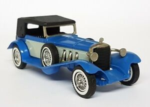 Matchbox Y-16 1928 Mercedes SS Light Blue / Grey Whitewall Tyres Made in England