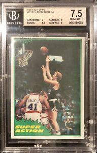 1981 Topps #101 Larry Bird Super Action BGS 7.5 Near Mint Celtics HOF