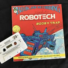 ROBOTECH Book & Cassette Boobytrap Captain Gioval Peter Pan 1985 Revell Inc USA