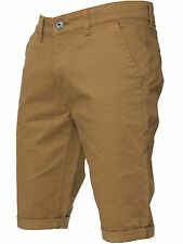 Enzo Mens Chino Shorts Cotton Casual Summer Half Pant Stretch Slim Fit 28-48 Tan 44 In.