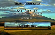 "TrainJunkies O Scale ""Mount Shasta"" Backdrop 24x144"" C-10 Mint-Brand New"