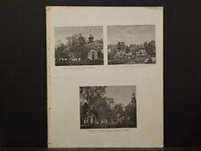 New York, Historical Engravings 1867 Map Bedford Village Washington Irving O5#39