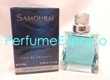 SAMOURAI by Alain Delon 1.7oz - 50ml EDT SPLASH Men  VINTAGE SEALED BOX (A3