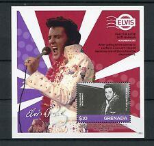 Grenada 2015 MNH Elvis Presley His Life in Stamps 1v S/S IV Hawaii Concert