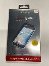 Zagg Invisible Shield HD Glass Screen Protection iPhone 5/5s/5c/SE