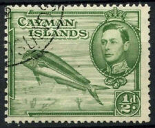 Cayman Is. 1938-48 SG#116, 1/2d Dolphin Fish KGVI Used P13x11.5 #D15756