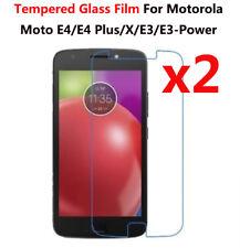 2 Pcs Tempered Glass Film Cover Screen Protector For Motorola Moto E4 E4 Plus
