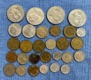 Lot 29 Coins Vietnam 1963, Philippines 1944-85, Cambodia 1959 ?Possible Silver?