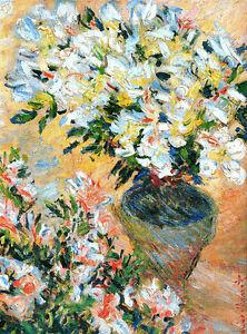 Claude Monet White Azaleas2 canvas print giclee 8X12&12X17 reproduction poster