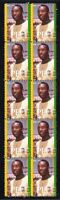 PELE BRAZIL FOOTBALL CHAMPION STRIP OF 10 VIGNETTE STAMPS 1