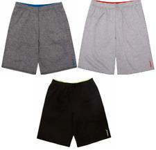 Head® Boy's Elastic Waistband Fleece Lined Gym Shorts, Gray / Black, All Sizes