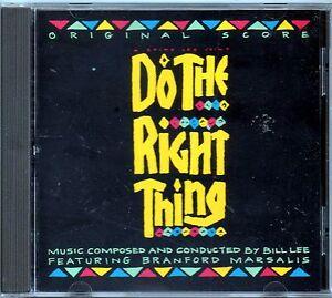 ORIGINAL SCORE - DO THE RIGHT THING - BRANFORD MARSALIS - CD NUOVO NON SIGILLATO