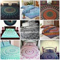 Mandala Quilt Cover Indian Hippie King Size Duvet Doona Cover Boho Bedding Set