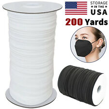1/8 1/4 Inch Width Elastic Band Sewing Black White Flat DIY Face Mask 100 Yards