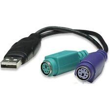 USB-Adapterkabel USB-A-Stecker auf 2-fach PS/2-Kupplung für Tastatur + Maus