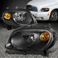 FOR 2006-2011 CHEVY HHR PAIR BLACK HOUSING AMBER CORNER BUMPER HEADLIGHT/LAMP