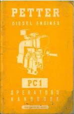PETTER DIESEL ENGINE PC1 OPERATORS MANUAL - AB2