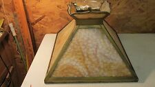 Antique Carmel Slag Glass Large Mission Shade