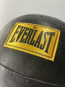 Medicine Ball 8lbs Everlast Genuine Leather Exercise Workout Boxing Training