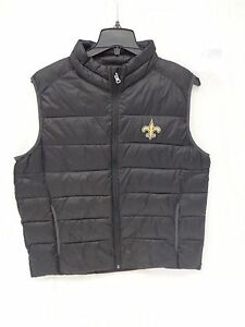 New Orleans Saints Mens G-III Rink Quilted Vest Large