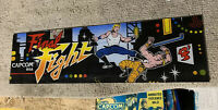 """23 3/4-6 3/4"""" Original Final Fight PLEXI sign marquee ARCADE GAME PART If14-1"""