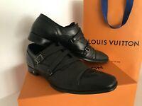 Authentic Louis Vuitton Mens Cross Strap Dress Shoes Size AU 7.5 EUR 41