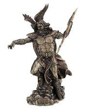 "11.75"" God of Gods Zeus Fighting Statue Greek Figurine Eagle King Thunderbolt"
