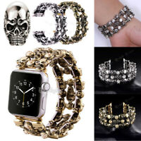 44 42 40 38mm Crystal Skull Watch Band Strap For Apple iWatch Series 6 5 4 3 2 1