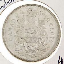 50 Cents Canada, 1867-1992 Partial Lamination error