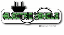 Electric Car Vehicle EV Bumper Sticker Decal LEAF Tesla BMW i3
