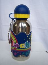 JACK Funky Named Metal Silicone Drinks Bottle Flask Container Thermos BLUE