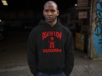 Death Row Records Red Logo Hoodie Hip Hop Rap Sweatshirt Dr Dre Snoop New Black