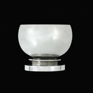 Georg Jensen. Sterling Silver Pyramid Egg Cup  #585 - Harald Nielsen.