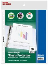 Heavy Weight Top Loading Sheet Protectors 10pack Holds 85 X 11 Paper