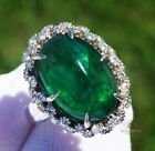 Emerald Ring Gold 14K Diamond Natural Real GIA Certified 10.16CTW RETAIL $11,800