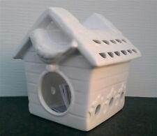 Bath Body Works Slatkin Co Ceramic Birdhouse Oil Warmer White Ceramic Bird House