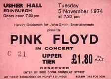 PINK FLOYD REPRO 1974 EDINBURGH USHER HALL 5 NOVEMBER CONCERT TICKET .NOT CD DVD