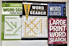 NEW Lot 4 Large Print Word Search Puzzle Books Sports Leisure Bendon 38-63 EACH