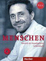 Hueber MENSCHEN A2.1 Deutsch als Fremdsprache ARBEITSBUCH mit AUDIO CD @New@