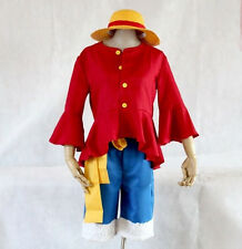Halloween One Piece New World Monkey D Luffy Cosplay Costume Hat Shoes Clothing