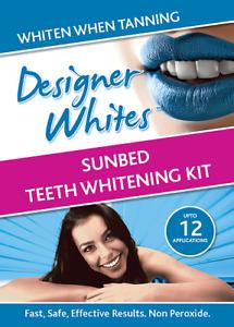 New Designer Whites ULTRA VIOLET Sunbed Teeth Whitening Kit Non Peroxide